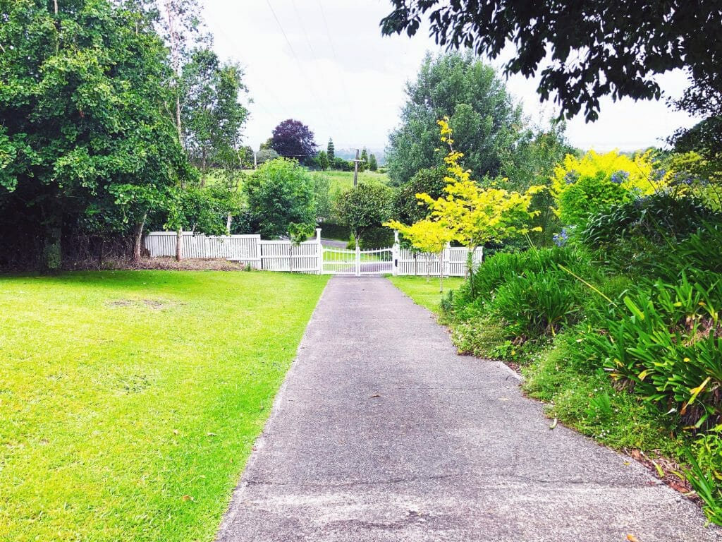Property gate and driveway